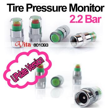 Free shipping,(4pcs/set) Tire Pressure Monitor Indicator 2.2 bard Valve Stem Cap Sensor Alert,Pressure Tester for car