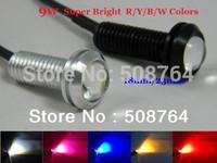 2pcs 9W High Power LED Larger Lens Ultra-thin car led Eagle Eye Tail light Backup Rear Lamp White Color