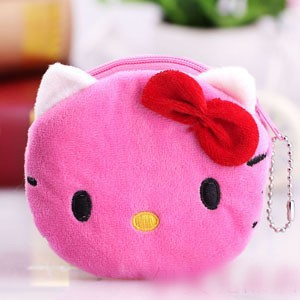 24 pcs/lot Wholesale Hello kitty coin purse Mix order women's coin purse Women's wallet Children's purses