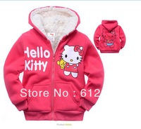 Free shipping(6pcs/lot) Cotton fleece children's jackets fashion girl's outwears coats New arrivel!
