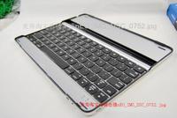 FREE shipping Aluminum Case wireless bluetooth keyboard for ipad 2 the new ipad ipad 3 black