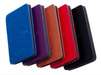 5 colors New Amazon Kindle Lighted Leather Cover case for amazon kindle 4 Free Shipping
