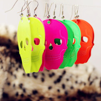 Punk Wholesale Drop Earrings For Women, 2014 New Popular Neon Color