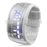 Bracelet Led Jelly Wrist Watch Blue Light free shipping