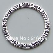 Tibetan Silver Circle Trust Love Dream Hope Ring Pendant Charms 30*30mm 20pcs 01206