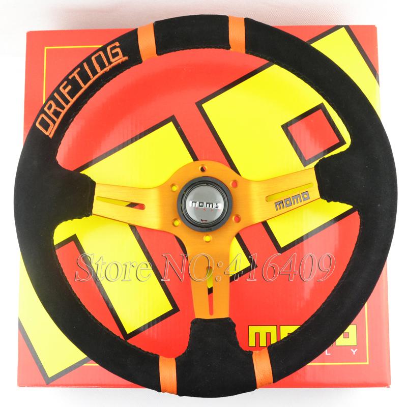 Momo Red Suede Steering Wheel Momo Steering Wheel Suede