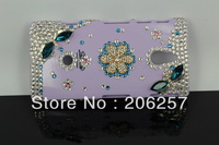 DIY dragonfly flower stickers drilling case for Sony Ericsson LT22i