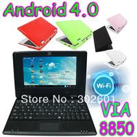 "4 pieces VIA 8850 7"" Android 4.0 Mini PC Laptop Cortex A9 1.5GHZ Notebook Q705 HDMI  desktop computer"