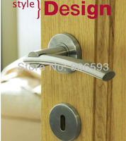 6pairs lot free shipping Modern stainless steel camber door handle/handle/lever door handle/AISI 304
