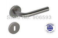 6pairs lot free shipping Modern stainless steel classic door handle/handle/lever door handle/AISI 304