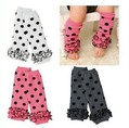 baby socks lace leg warmers knee pad children legging Kids toddler High socks stocking 3color mix LDL001(China (Mainland))