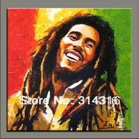 Guaranteed 100%,free shipping!framed!high quality hand painted oil on canvas,original painting,Bob Marleypainting