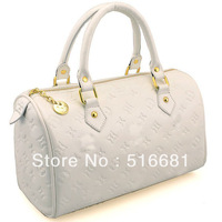 hot! free shipping women's handbag White coat of paint embossed pillow bag