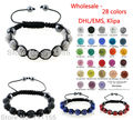 EMS / DHL Free Shipping,Wholesale 140 pcs/lot,9 Balls 10mm Crystal Beads Shamballa Bracelets High Quality Shambala Bracelet,