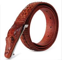 Noble Men's Belt Belt Leather Crocodile Pattern Cow Leather Men's Business Belt 1 Piece