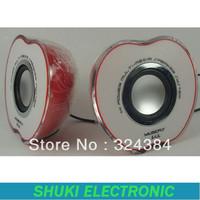 hot sale for apple shape USB 2.0 computer laptop speaker with volume control mini speaker