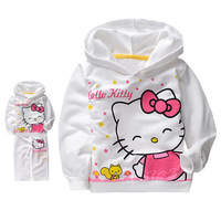 Free shipping 5 sets/lot Wholesale Childrens Clothes Sports Wear Suit Hello Kitty Spring Autumn Tracksuits Hoody Pants for Girls