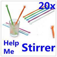 20 X Coffee Drink Milk Stick  Stirrer Stir for Kitchen & Bar Cocktail Drink  HELP ME New By Post Air Mail (20pcs=4Packs)