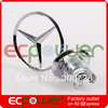 Free shipping High Quality Car Badge, Mercedes BENZ 140 benz Hood Badge Head Emblem 1pc/lot Ecpower