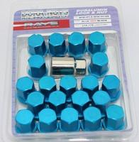 VOLK RAYS 35MM WHEELS LOCK LUG NUTS 12X1.5 1.5 ACORN RIM FORGED DURA 20 BLUE
