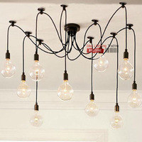 Free Shipping New Product DIY American Modern Style Bubble Chandeliers 10 Lights Suspension with Remote Controller