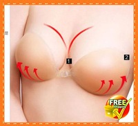 Free Shipping 5 pair Sexy Invisible Self-Adhesive Strapless Backless Bra Silicone Breast Form Enhancer Bra Size ABCD Cup