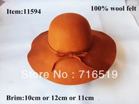 New style  fashion  large  brim hats felt for women and girls with brim 10CM-12CM-14CM  and  fedora and floppy 2013