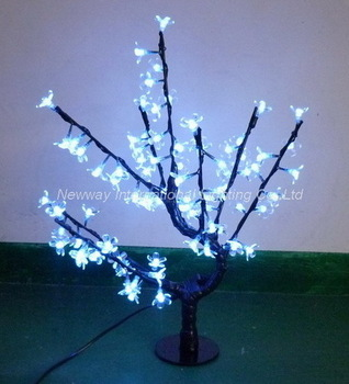 NEW for 2013-50cm high 80PCS cold white LED cherry blossom tree light artificial flowers for home&garden decoration