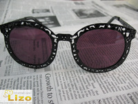 Limited Edition Super duper critter black metal designer sunglasses