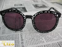 Limited Edition Super duper critter black metal designer sunglasses