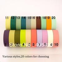 5pcs/lot washi paper tape Masking tape textured paper tape various color blackboard sticker