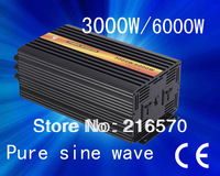Best quality!!3kw dc24v-ac240v/AC100V ,pure sine wave ,solar inverter/ power inverter off 5% for Christmas day(CTP-3000W)