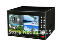Free Shipment  WIFI 4CH Standalone DVR Video output FULL D1 DVR with 7 inch LCD monitior all in one CCTV DVR LCD 4CH
