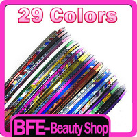 29 Color Rolls Strip Striping Tape Line Nail Art UV Gel Tips Decoration Sticker Free Shipping