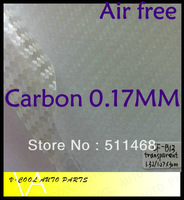 Free Shipping,3D Transparent Carbon Fiber Auto Wrapping Film Bubble Free / Designed For Car Styling Size:1.52*30M