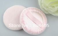free shipping!! 12pcs/lots,  pink leopard cotton makeup powder puff,makeup sponge