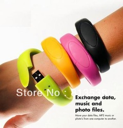 Wristband USB Flash Drive Disk - Multi Colors 4GB 8GB 16GB 32GB 64GB(China (Mainland))