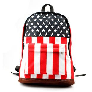 Bag m word flag star Stripes backpack tide of student school bag backpack travel bag fashion women's handbag