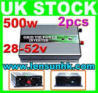 1000W(2x500W) Grid Tie Inverter 28-52V DC,230V AC,FAST SHIP,NO CUSTOM TAX