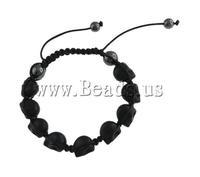 FREE SHIPPING Best Gift Punk Design Fashion Jewelry Skull Rhinestone Elegant Adjustable Shamballa Bnagle Bracelet 7.5 Inch