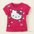 5 pcs/lot 2013 summer baby girls Hello Kitty Tshirt  Children Kids Cartoon Design Wear LC0847322