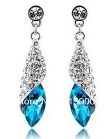 Free shipping Min order is $10(mixed order)  Fashion  Hot Sale Full Rhinestone Crystal Pendant Earrings