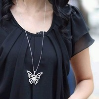 Accessories x1324 purple butterfly necklace