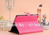 Wallet box style PU leather stand cover case for mini ipad free shipping 30pieces/lot