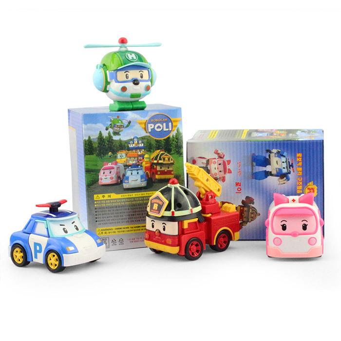 with retail pack 4 pcs/lot Robocar poli car bubble South Korea Thomas toys 4models mix robocar poli(China (Mainland))