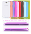 45pcs/lot Ultra Thin 0.3mm Abrazined Half Clear Cases, for Galaxy Note 2 N7100,Whole Hot Sale Free Shipping (NBPC0371)