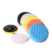 6PC 6INCH M14 Thread  Diamond Face Foam Buffing pad and Polishing Pad set for Car Polishing