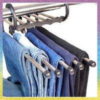 [trousers rack]Free Shipping 5pce/lot JJ072 High-quality Sponge belt clamp Hangers & Racks anti-skid trousers rack