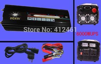 power inverter  peak 12000w power invertor 6000 watt Modified UPS Uninterruptible Power Supply Inverter with battery charger