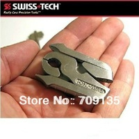 1PC SWISS TECH 9 in 1 folding plier, stainless steel multi screwdriver spanner